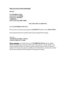 Best Past Due Bill Template Doc Example