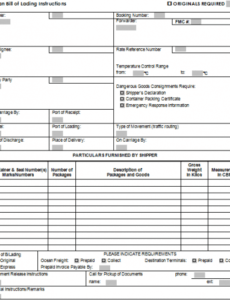 Best Shipping Bill Of Lading Template  Example