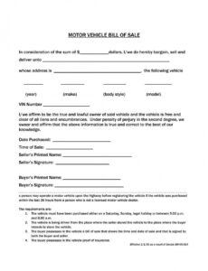 Best Truck Bill Of Sale Form Template  Sample