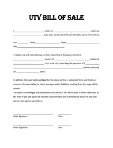 Best Vehicle Bill Of Sale Template Nj Pdf Example