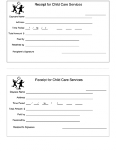 Child Care Bill Template Excel