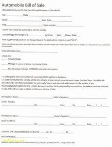 Editable Massachusetts Bill Of Sale Template Word