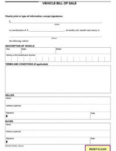 Editable Truck Bill Of Sale Form Template Word Example