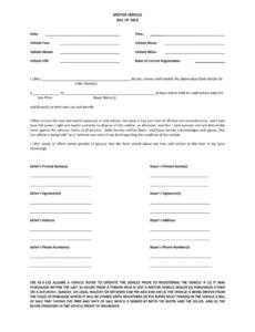 Editable Virginia Vehicle Bill Of Sale Template Word Sample