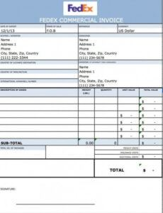 Free Freight Bill Template Word