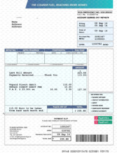 Free Water Bill Invoice Template Excel