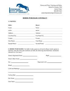 Horse Bill Of Sale Template Doc