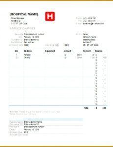 Hospital Bill Template Excel
