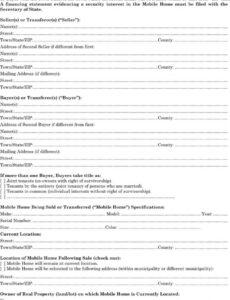 Mobile Home Bill Of Sale Template Pdf