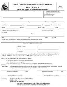 Printable Auto Bill Of Sale Template Missouri Excel Sample