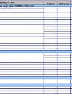 Printable Bill Payment Checklist Template Doc Sample