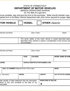 Private Party Auto Bill Of Sale Template Word Example
