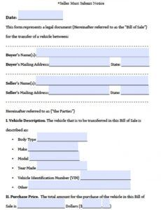 Professional Bill Of Sale With Notary Template Doc Example