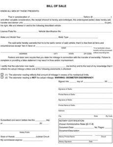 Professional Vehicle Bill Of Sale Template Nj Doc Sample