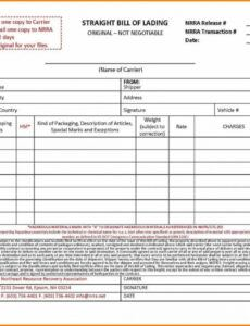 Best Commercial Bill Of Lading Template Word