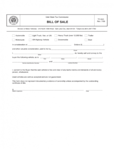Best House Trailer Bill Of Sale Template Pdf Example
