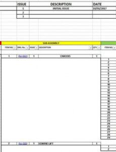 Best Indented Bill Of Materials Template  Example