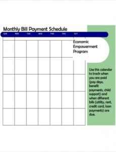 Best Monthly Bill Pay Template Excel