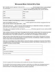 Costum Truck Bill Of Sale Template Excel