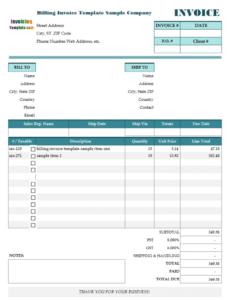 Editable Itemized Hospital Bill Template Doc