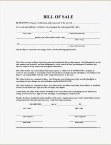 Editable Tractor Bill Of Sale Template Word