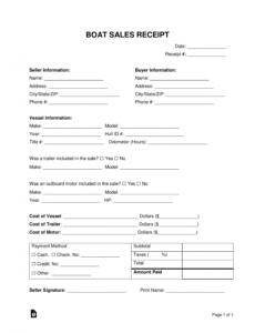 Editable Vessel Bill Of Sale Template Pdf Sample