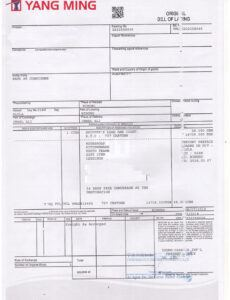 Free General Bill Of Lading Template Pdf