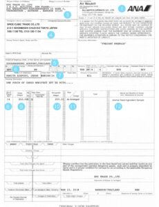 Free General Bill Of Lading Template Pdf Example