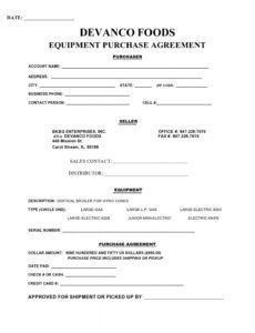 Printable Tractor Bill Of Sale Template Doc