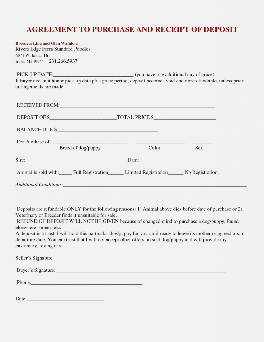 Professional Dog Bill Of Sale Template Doc Sample