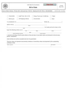 Vehicle Bill Of Sale No Warranty Template Pdf Sample