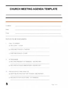Best Online Conference Agenda Template Word Sample