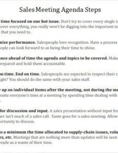 Best Sales Team Meeting Agenda Template Pdf Example