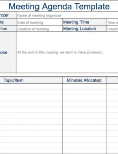 Costum Leadership Team Meeting Agenda Template Excel Sample