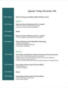 Costum Strategy Workshop Agenda Template Pdf