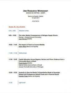 Editable One Day Workshop Agenda Template Doc Sample