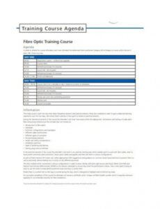 Free 2 Day Workshop Agenda Template Excel Example