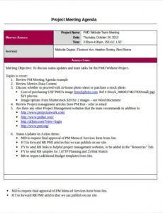 Free Weekly Leadership Meeting Agenda Template Pdf Example