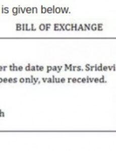 International Bill Of Exchange Template  Example