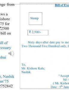 International Bill Of Exchange Template Pdf Example