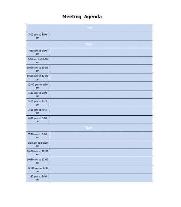 Online Conference Agenda Template Doc Sample