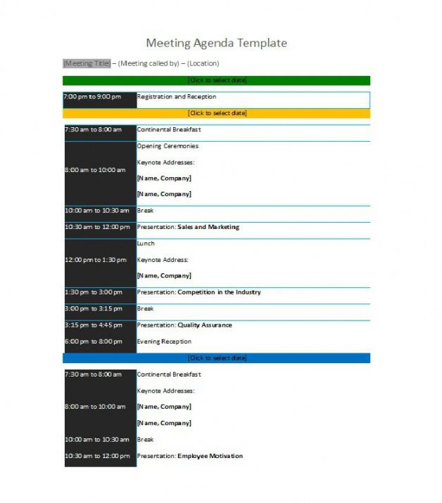 Online Conference Agenda Template