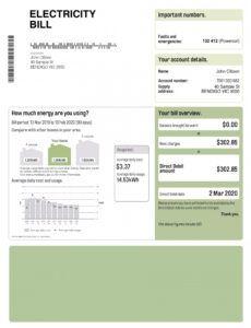 Professional Massachusetts Utility Bill Template Pdf