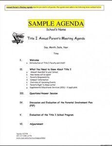 Professional Weekly Leadership Meeting Agenda Template