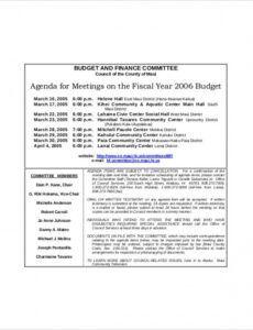 15 committee meeting agenda templates  free sample it steering committee agenda template doc