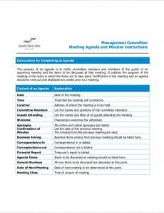 15 committee meeting agenda templates  free sample it steering committee agenda template example