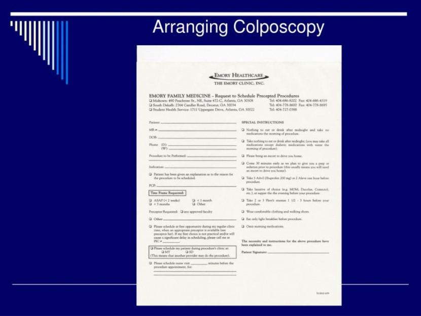 editable free ppt colposcopy powerpoint presentation free download colposcopy procedure note template