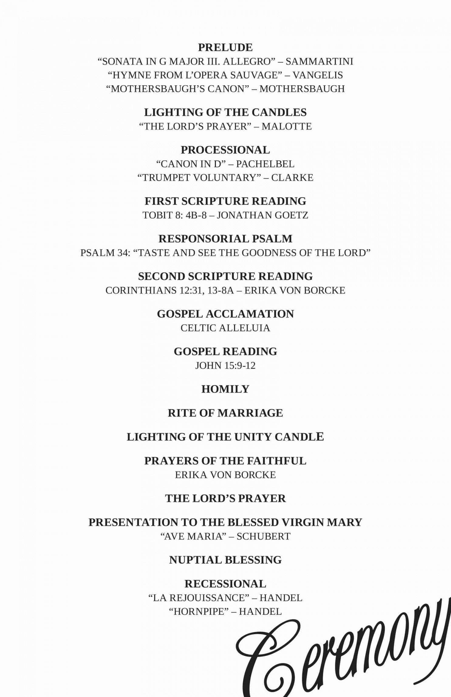 editable wedding reception program template ~ addictionary wedding reception agenda template excel