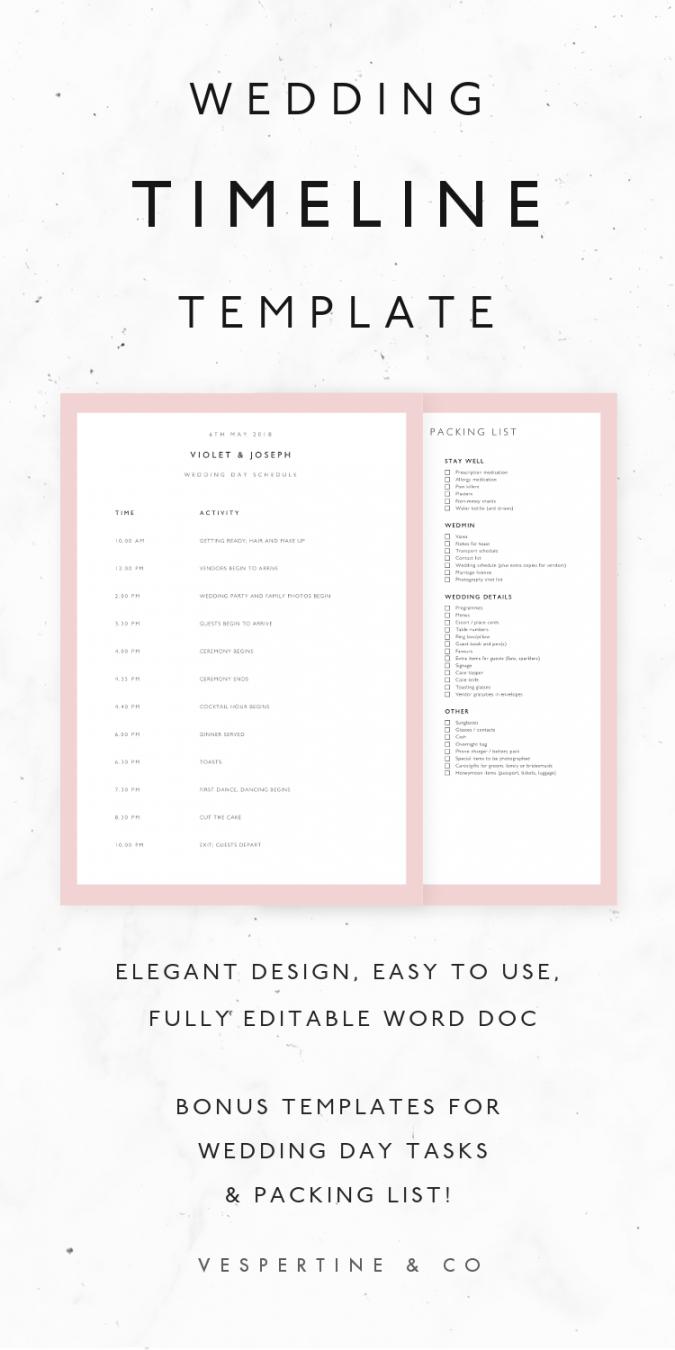 editable wedding timeline template wedding schedule template wedding reception agenda template sample