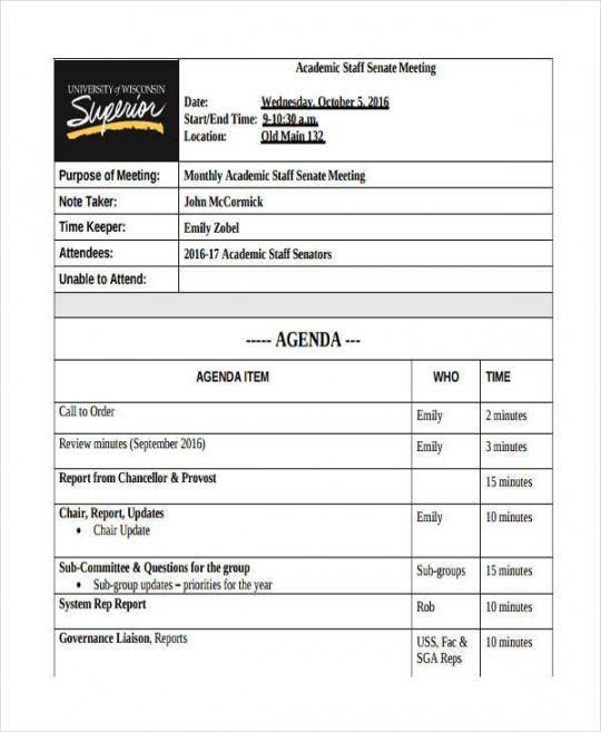 free 46 meeting agenda templates  free  premium templates school board meeting agenda template